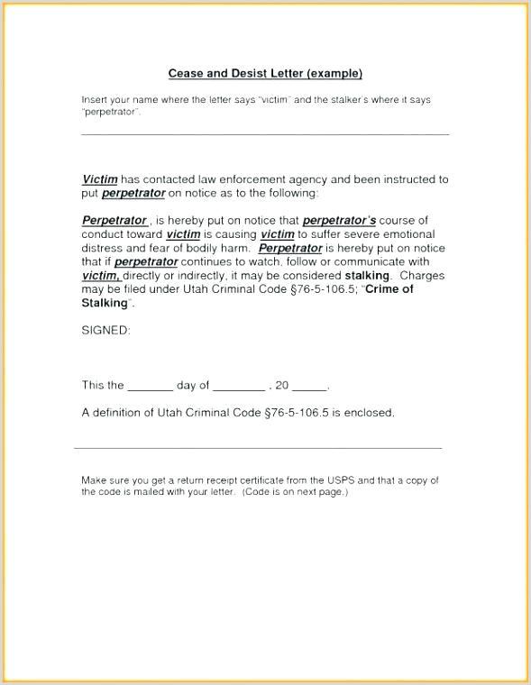 Sample Cease and Desist Letter Defamation Harassment Letter Template