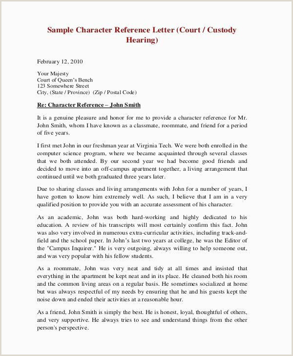 Sample Character Letter for Court Sample Character Reference Letter for A Friend – Salumguilher