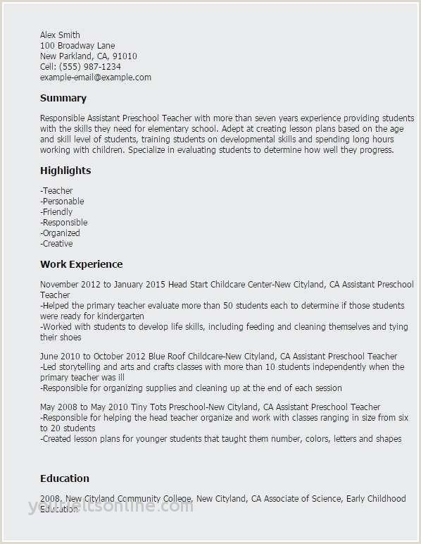 Child Care Resume Sample Best Resume Sample Babysitting