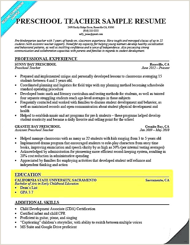 Objective for Cna Resume Fresh Child Care Resume Objective
