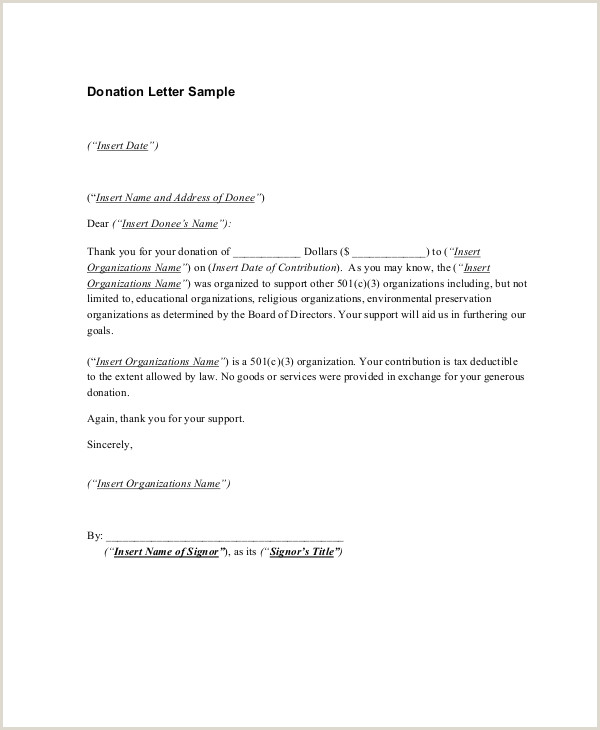 Sample Church Contribution Letter 16 Sample Thank You Letters for Donations Doc Pdf
