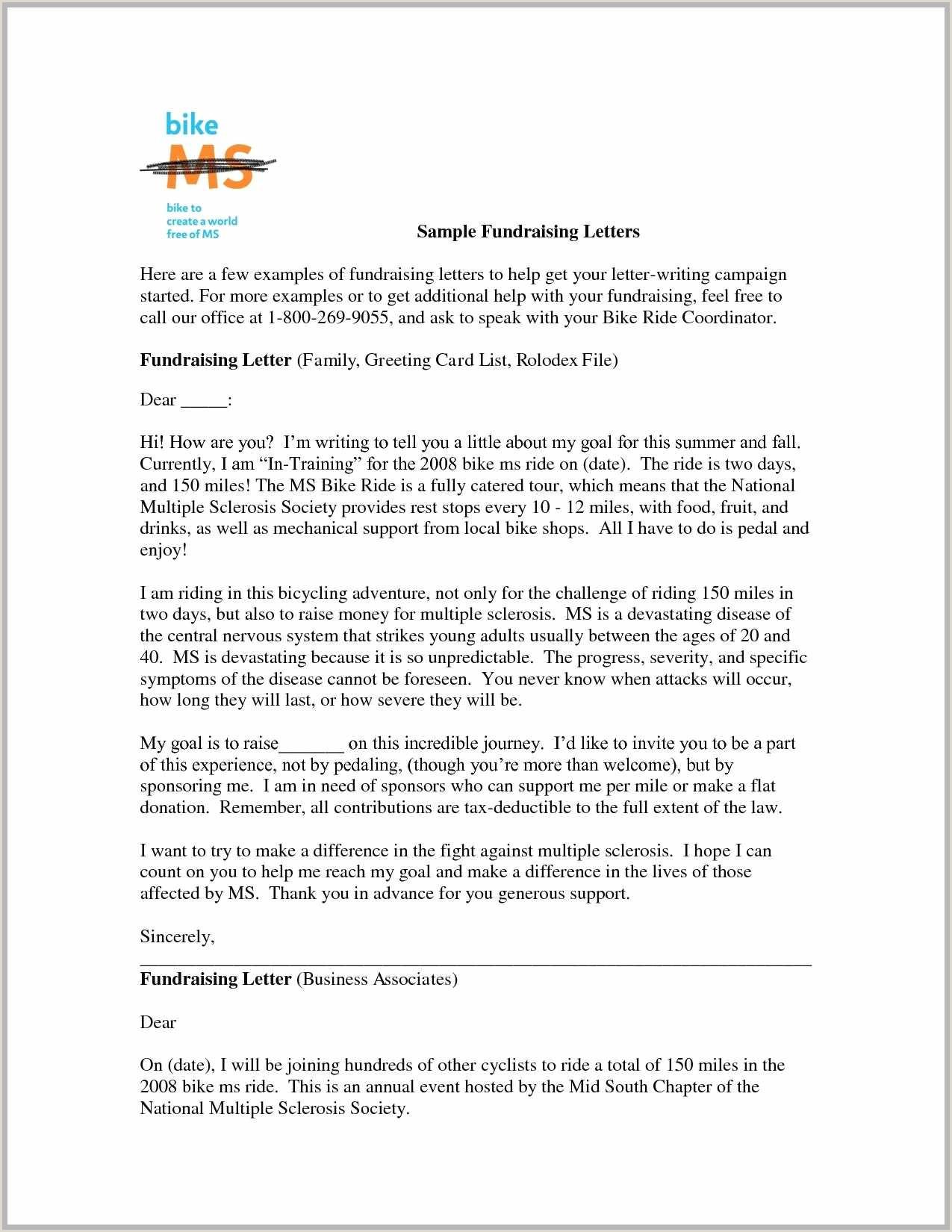 New Sample Fundraising Letter — Kenbachor Kenbachor