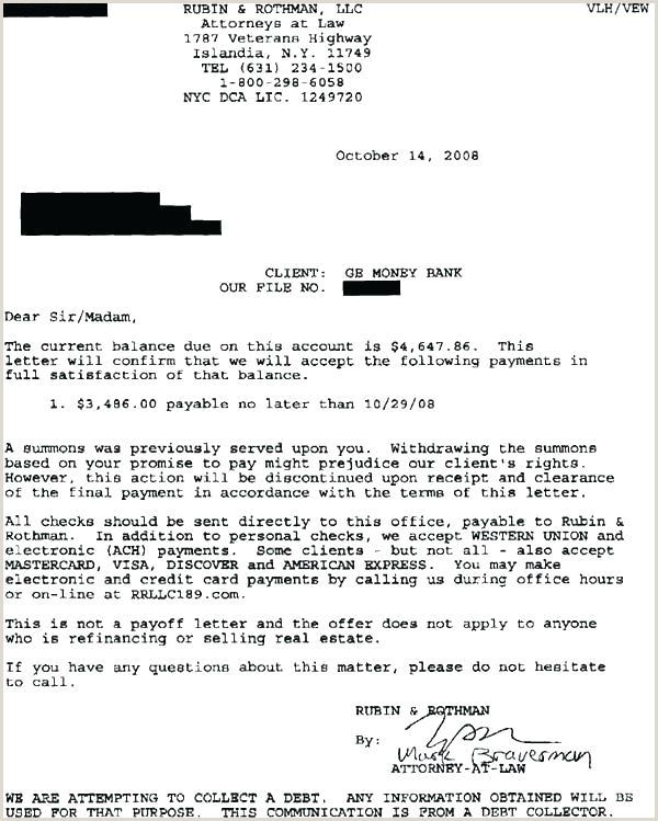 Settlement Agreement Letter Template Debt Final Payment