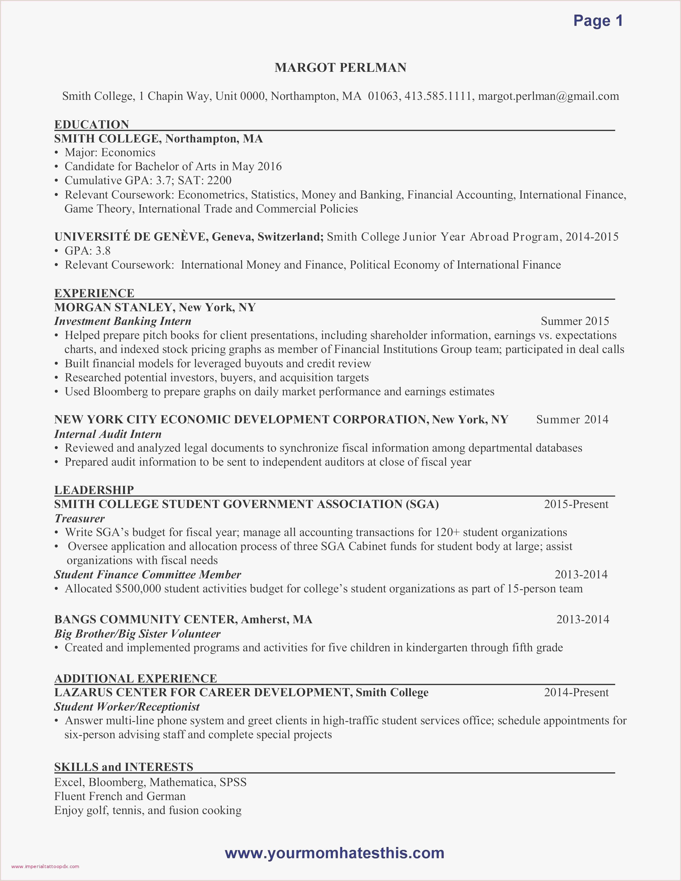 Sample Cover Letter for Finance Internship Law Firm Examples