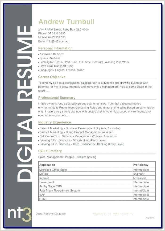 Resume Cover Letter Example Examples Templates Design