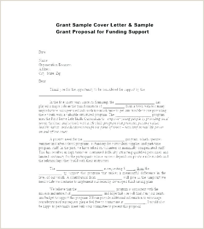 Sample Cover Letter for Non Profit Grant Proposal Sample Pdf