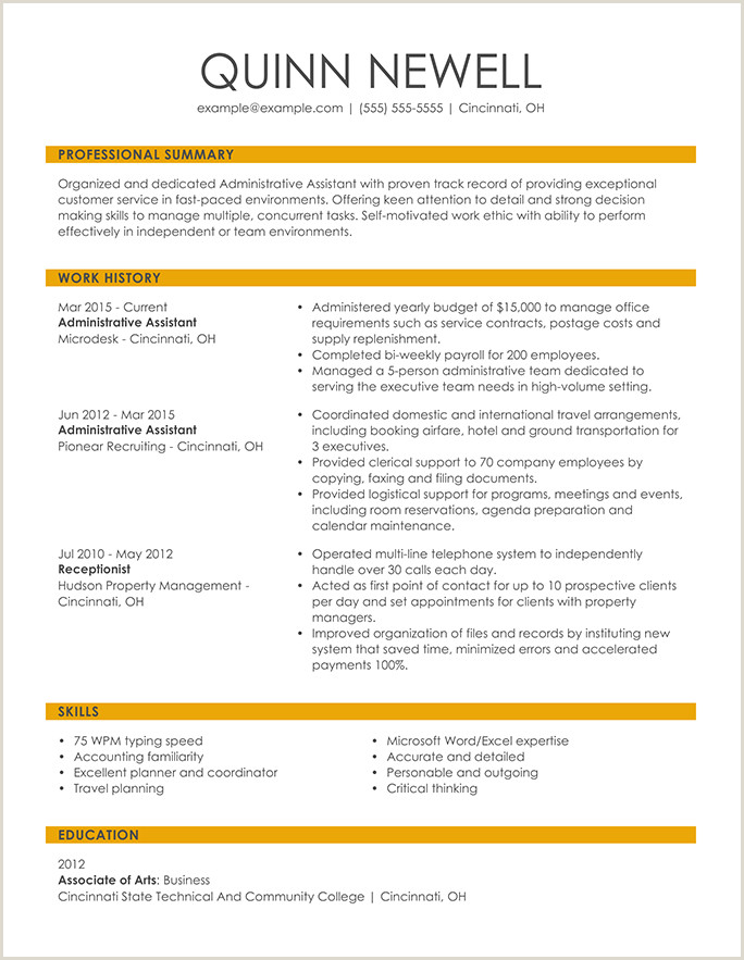 Sample Cv For Unicef Jobs Resume Format Guide And Examples Choose The Right Layout
