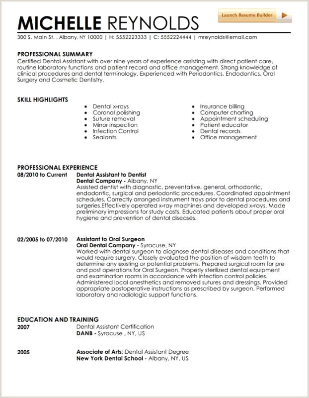 Luxury orthodontic assistant Resume