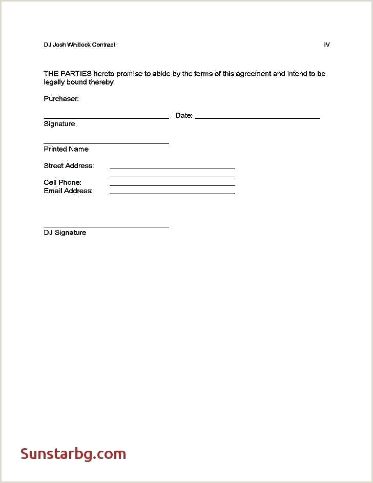 dj agreement contract template