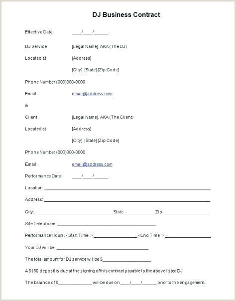 Sample Dj Contract