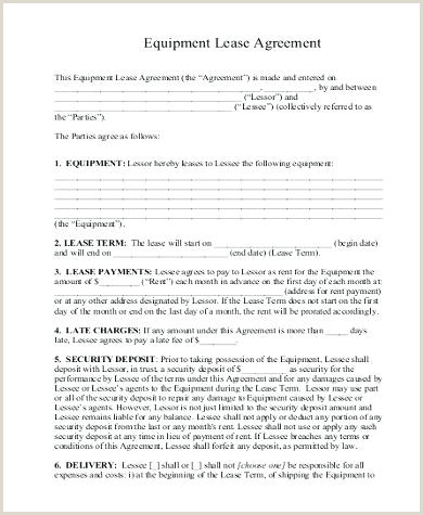Tool Rental Agreement Form Template Sample Equipment Lease 9