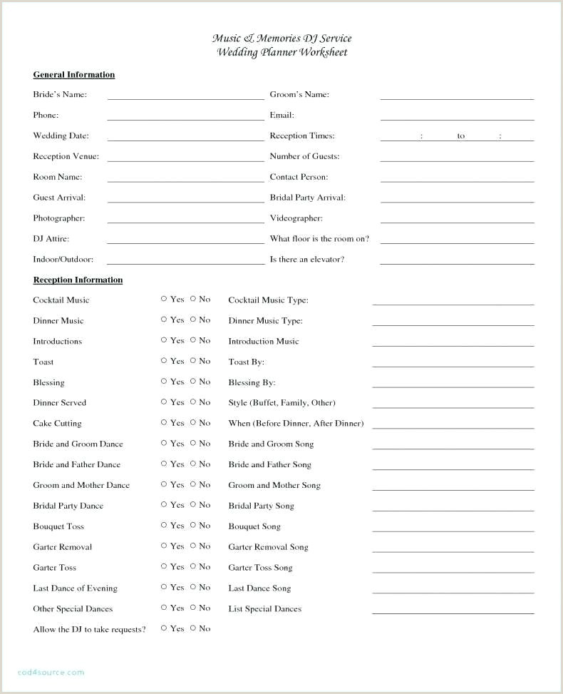 Mobile Dj Contract Template Wedding Playlist Disco