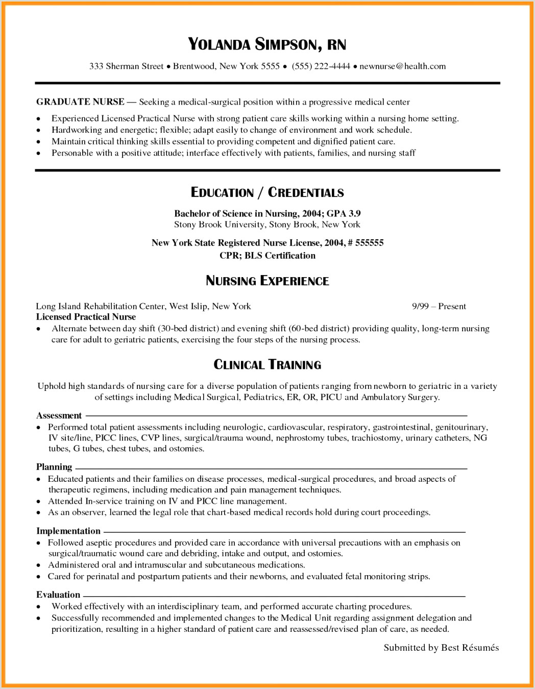 Sample Graduate Nursing Resume 25 Inspirational Gallery Registered Nurse Resume Samples