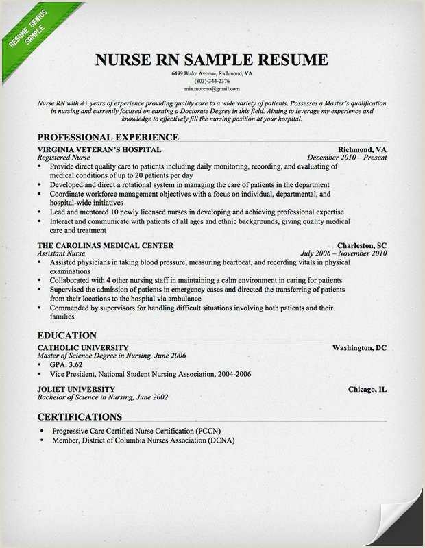 Sample Graduate Nursing Resume Masters Degree In Nursing Elegant Rn Bsn Resume Awesome