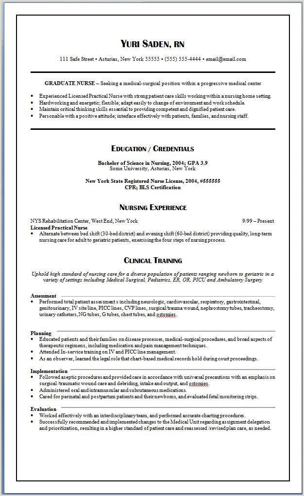 Sample Graduate Nursing Resume Pin by Jobresume On Resume Career Termplate Free