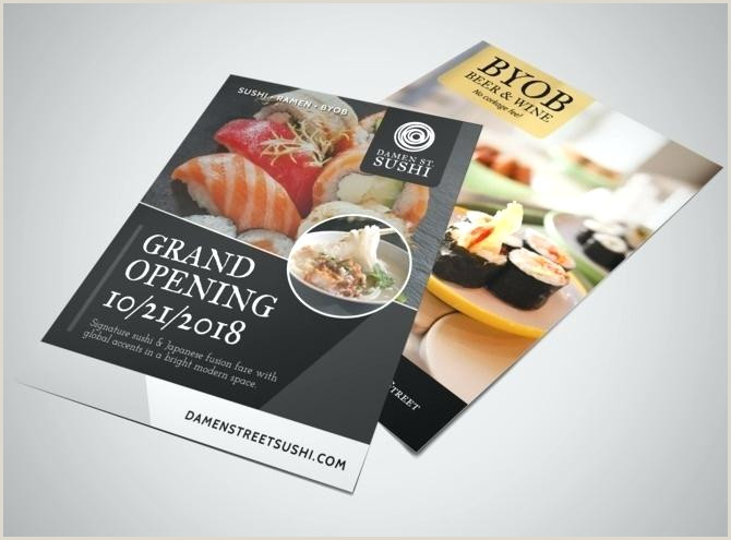 Restaurant Grand Opening Flyer Template Templates Free In
