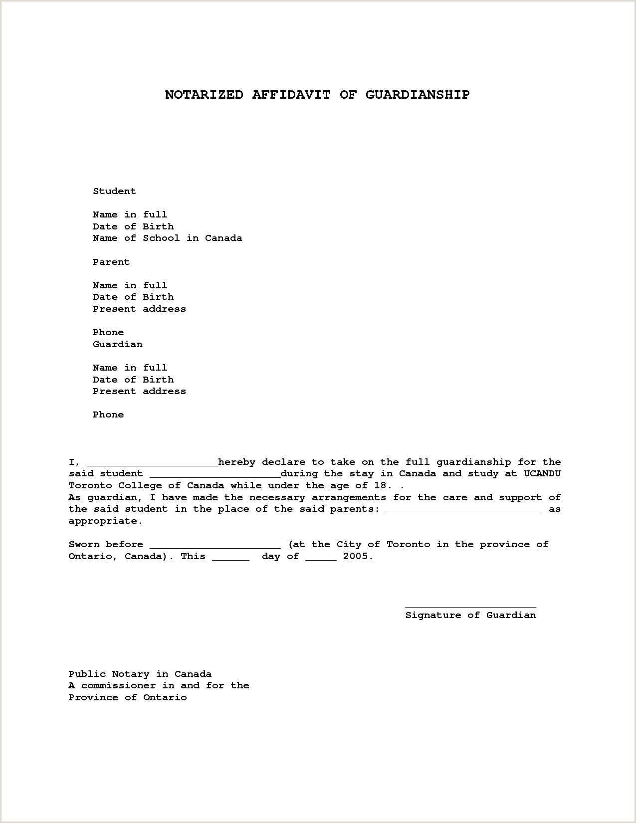 Sample Guardianship Letter Guardianship Letter Template Samples