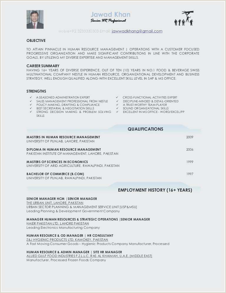 Hr Resume Template Professional Hr Resume Awesome Hr Resume