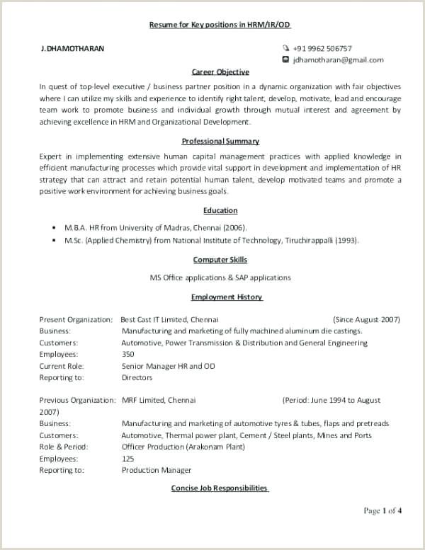 Sample Human Resource Cover Letter Hr Business Partner Cover Letter Sample – Dstic
