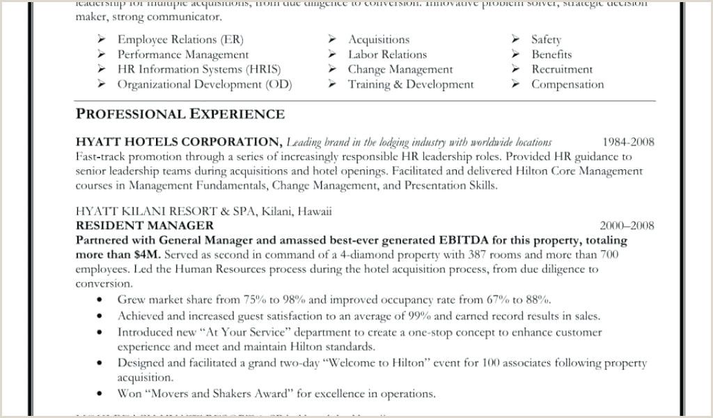 Sample Human Resources Manager Resume Human Resource Specialist Sample Resume – Podarki
