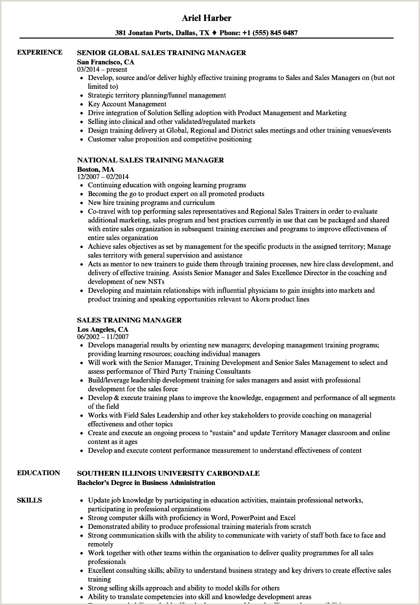 Sample Human Resources Manager Resume Location Manager Resume Training Template Templates Free