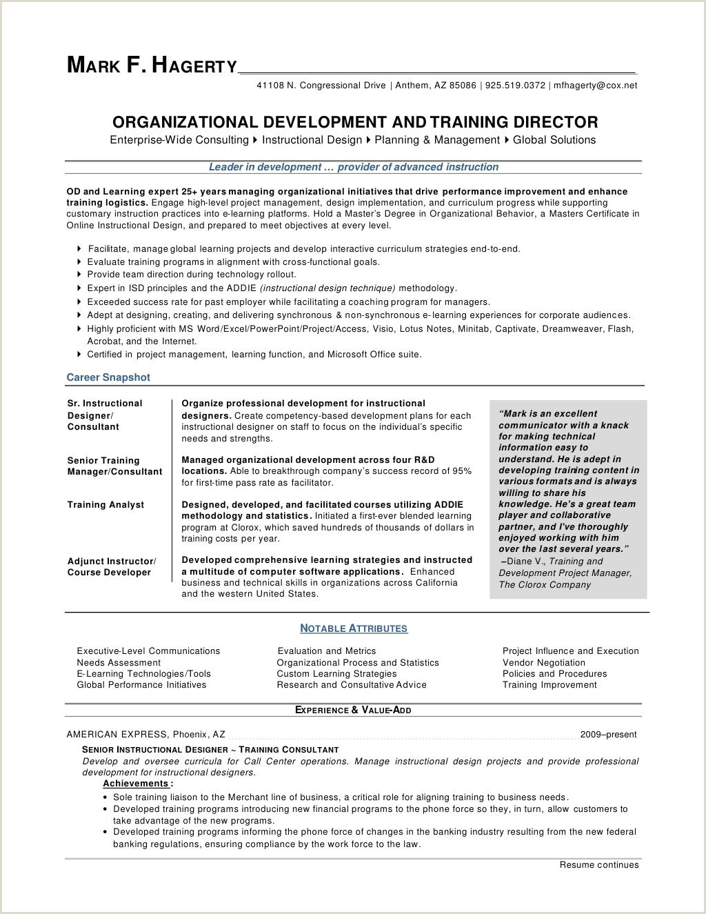 Sample Human Resources Manager Resume Training Manager Resume Templates Template Nanica Sample and