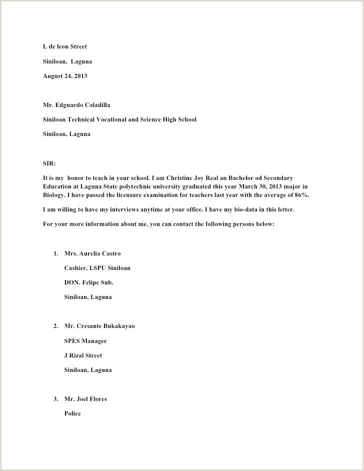 Cover Letter Templates Example Job Application Template D
