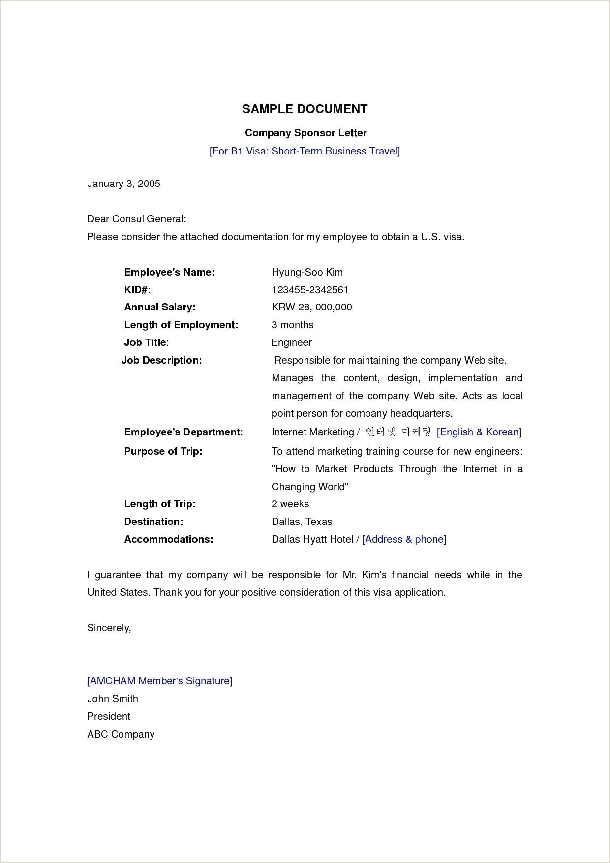 Sample Letter From Employer for Visa Application Pin by Waldwert Site On Resume formats