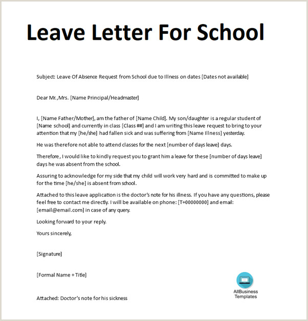 Sample Letter Of Absent From School How to Write An Excuse Letter for Being Absent In School