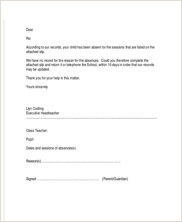 School Letter Templates 8 Free Sample Example Format