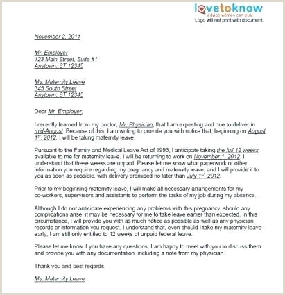 Sample Letter Of Leave Of Absence From Work New Education Leave Absence Time F Request Email Template
