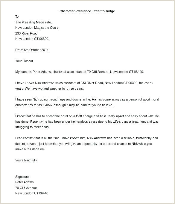 Sample Letters to A Judge before Sentencing Character Letter to Judge Template