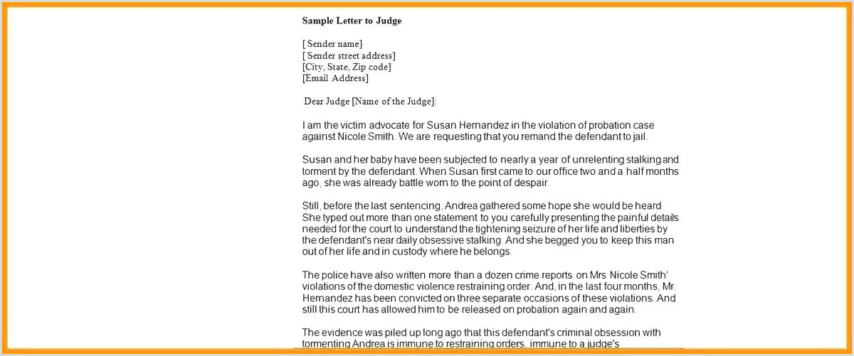 Letter To A Judge Sample How To Write Legal Letter To Judge