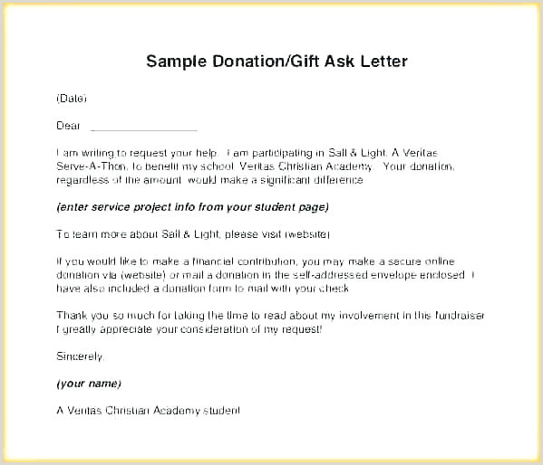 Sample Of Contribution Letter Donation Letter Receipt How to Write Contribution format