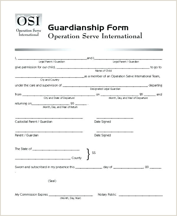 Sample Permanent Guardianship Letter Temporary Guardianship Letter Best Custody Template