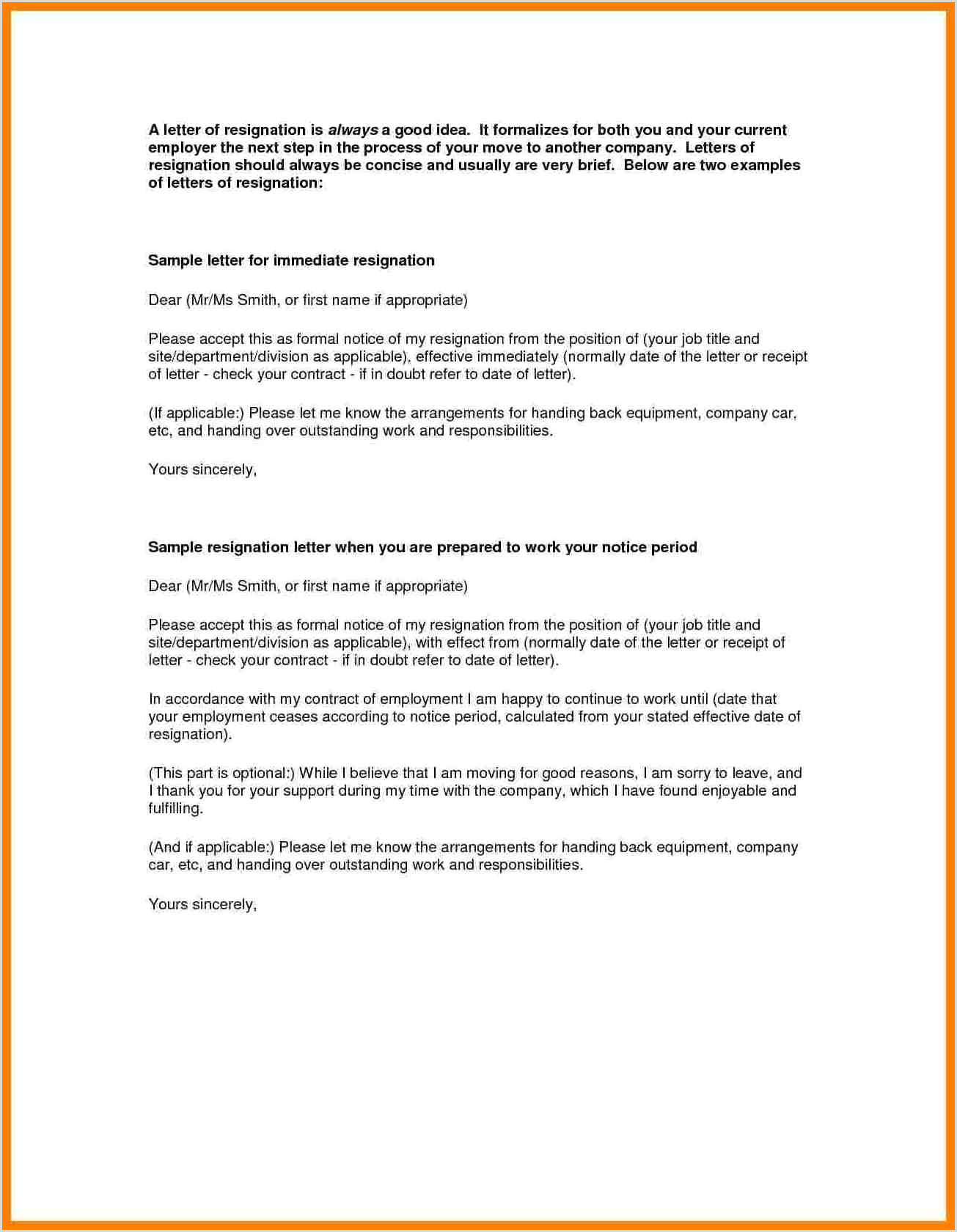 Best Resignation Letter Sample Mac Pages Template For Labels