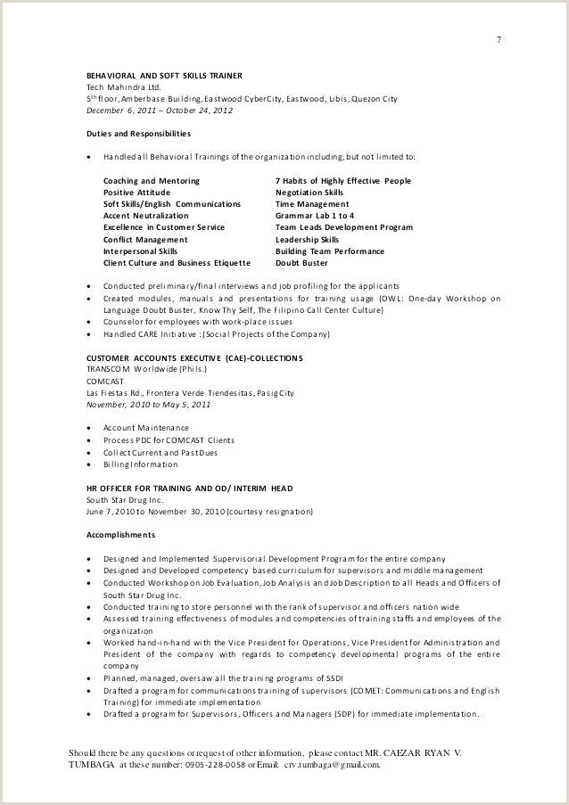 Sample Resume for Call Center Agent Applicant without Experience Skills for Call Center Agent Resume Nppusaorgcall Center
