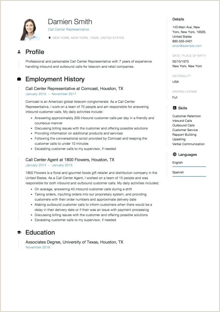 Resume Template Without Objective Prep Cook And Line Cook