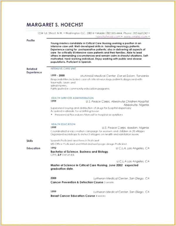 Child Care Resume Sample Best Child Care Resume Template