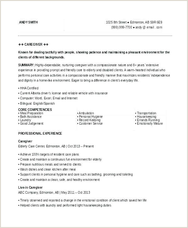 Resume 8 Years Experience Unique Cv for Support Worker Child