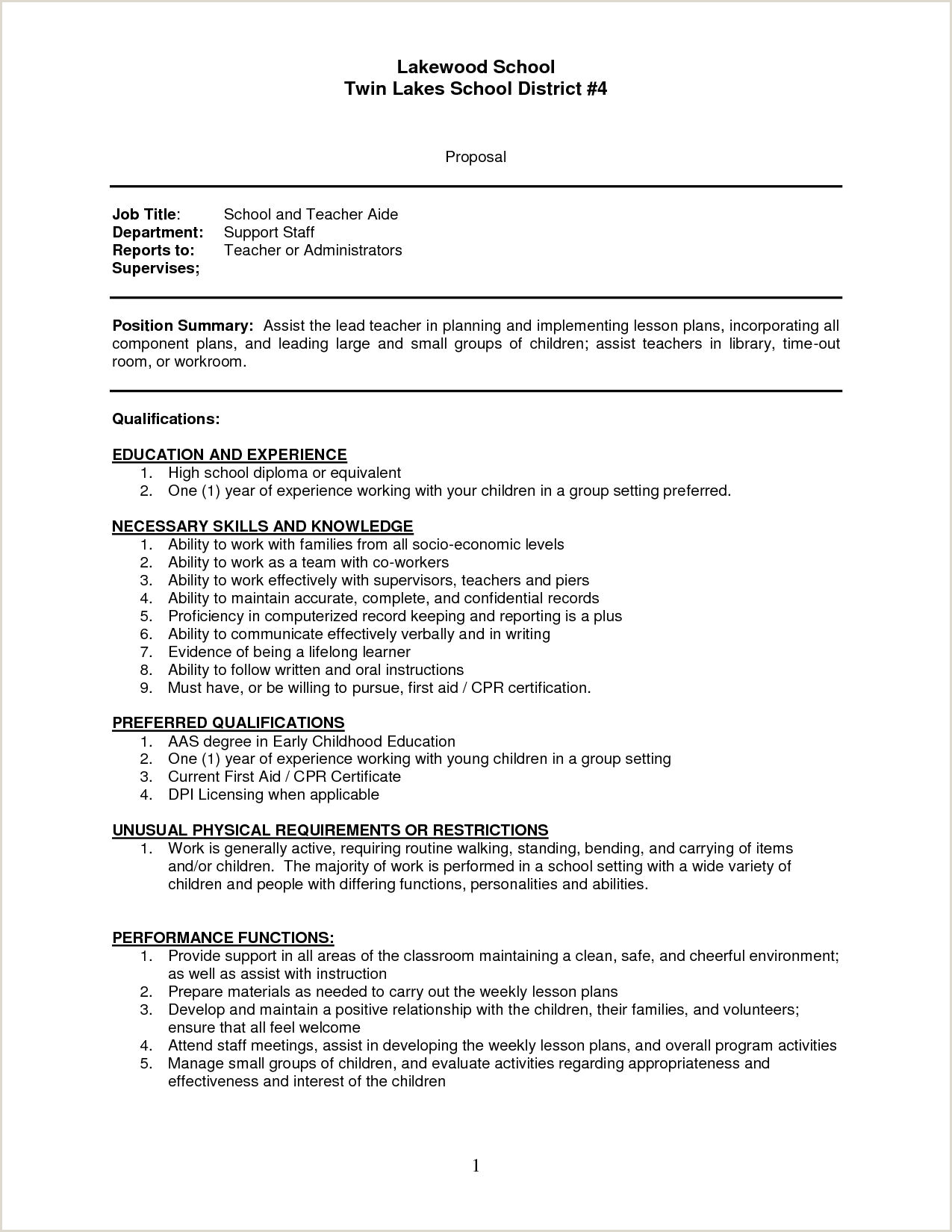 sample resume teachers aide assistant cover letter teacher