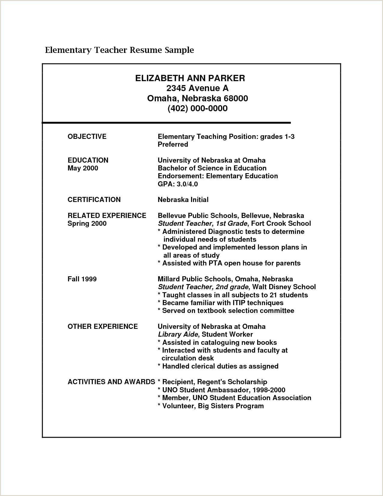 Sample Resume for Elementary Teacher Teaching theme In Literature Powerpoint Superb 0d How Honors