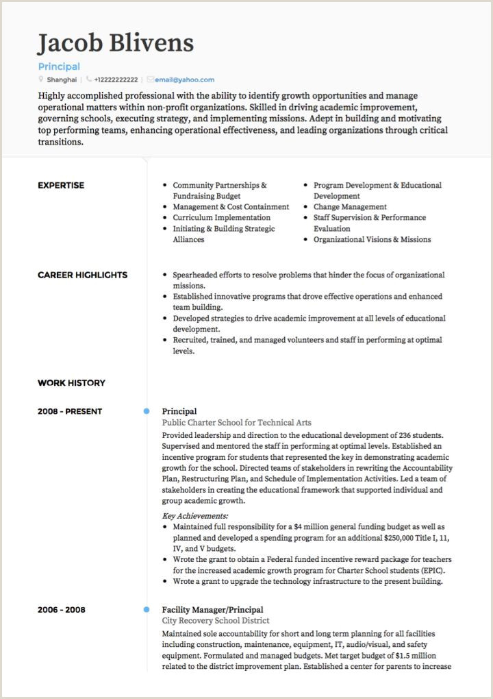 Transition Out Teaching Resume Examples