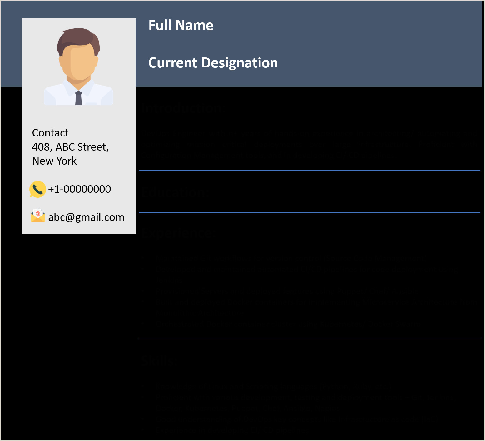 Sample Resume for Linux System Administrator Fresher Devops Resume Example