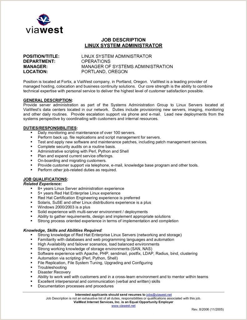 Sample Resume Backup Administrator Valid System