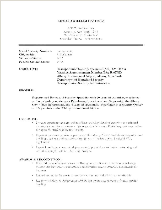 Security Guard Resume Objective Inspirational Resume for