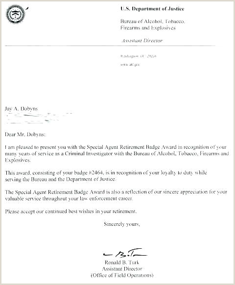 Sample Retirement Letter to Boss Retirement Letter Template to Employer