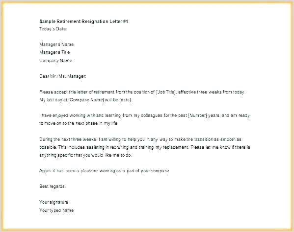 retirement notice letter template