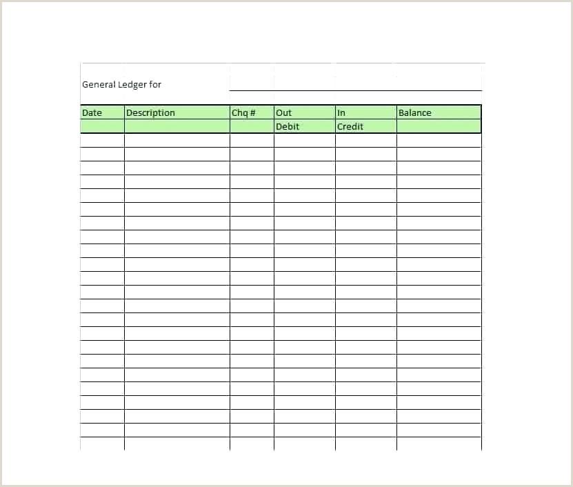 Sample Self Employment Ledger Blank Ledger Template – toneswep