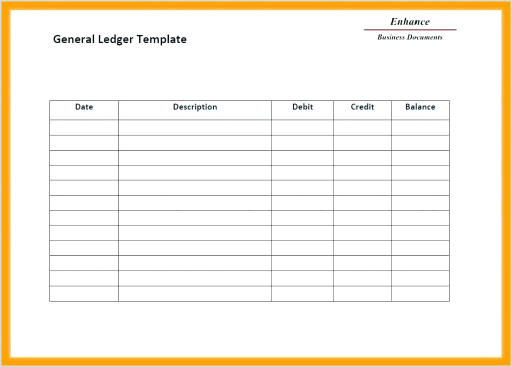 General Ledger Template Self Employment Free Templates